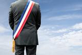 maire mairie élection vote électeur voter président élu pays représentant écharpe bleu blanc rouge symbole personnage patron diriger ville urbanisme orientation orienter développement économique