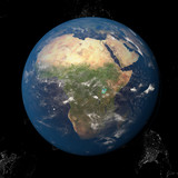 The Earth from space showing Africa 3d render illustration. Other orientations available. - 138063932