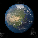 Asia seen from space 3d illustration - 138064105