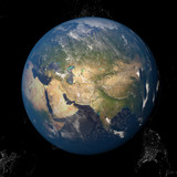 Asia seen from space 3d illustration - 138064367