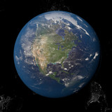 North America Canada USA from space. - 138064551