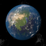 Asia seen from space 3d illustration - 138064712