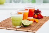 Healthy colorful juices