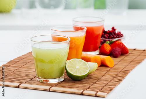 Papiers peints Jus, Sirop Healthy colorful juices