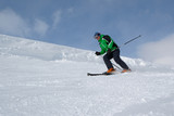 Skier on the slope