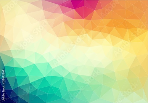 Fotobehang Geometrische Achtergrond Abstract geometric colorful element. Vector background