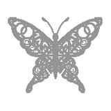 Butterflies for design. For background .Vektor, black dots, halftone
