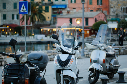 Foto op Canvas Scooter Vespa in the city