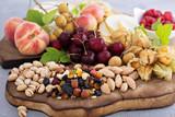 Fresh fruit and nut platter