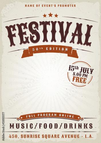 Music Festival Grunge Poster © benchart