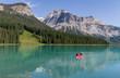 Canoe at Emerald Lake, Yoho National Park, BC, CA