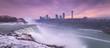 Niagara Falls Sunset Panorama from New York