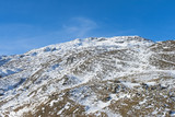 Panoramic view of an alpine mountainside