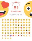 81 Friendly Vector Emoticons - Emojilicious v0.1 - 138123758