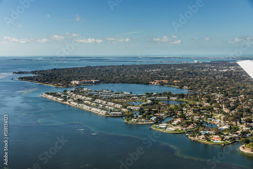 Aerial view of downtown St. Petersburg, Florida Poster