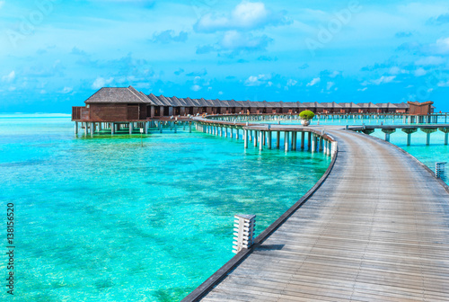 Foto op Canvas Turkoois beach in Maldives