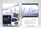 Cover design annual report,vector template brochures, flyer, presentations, Leaflet cover, Abstract flat background, building, layout in A4 size