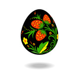 Easter egg ornament Khokhloma
