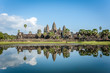 Angkor Wat with reflection blue sky. Siem Reap, Cambodia. World Heritage landmark