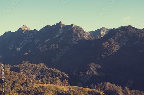 Vintage nature background - Landscape of mountain. - 138166927