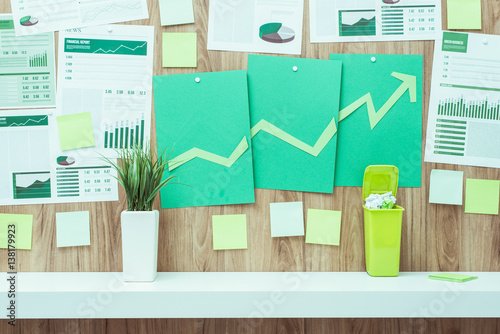 Financial success and green business Poster