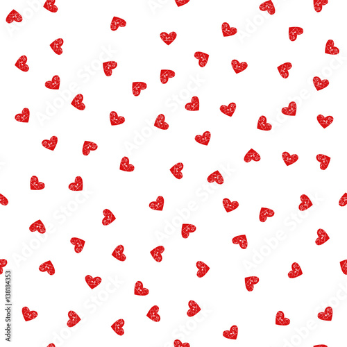 Staande foto Vlinders in Grunge Cute pattern for kids, girls and boys. Creative vector background is made up of hearts and flowers. It can be used to create prints, packaging, invitations, simple designs. Holiday packages.