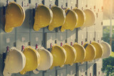 Safety helmet hanging - 138201562