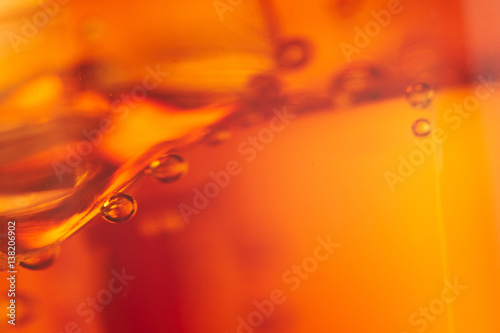 cola with ice cubes Poster