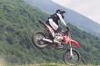 atterraggio con moto da cross