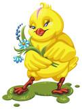 цыплёнок векторная иллюстрация