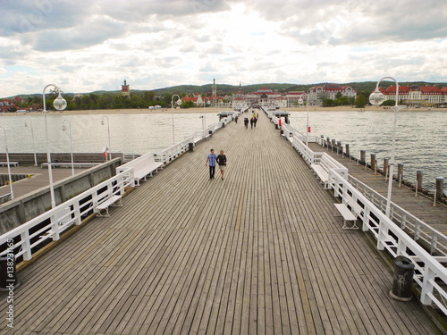 Wooden pier in Sopot.