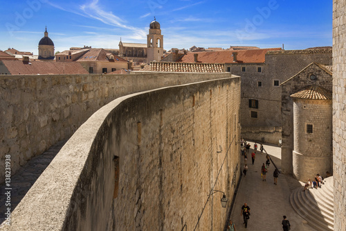 Dubrovnik Old Town view from City Walls Poster