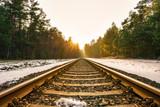 Sonnenuntergang auf dem Gleis