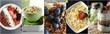 Коллаж, здоровая пища, зерновые