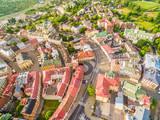 Lublin - stare miasto z lotu ptaka. Atrakcje turystyczne lublina - widok z powietrza.