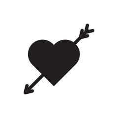 heart with arrow icon illustration