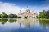 Neues Rathaus Hannover mit Maschteich
