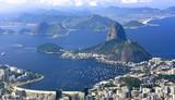 RIO DE JANEIRO, BRAZIL - APRIL 6, 2011: Panoramic view of Rio de Janeiro City from Corcovado hill.