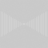 Pattern with line black and white . Abstract vector op art pattern Monochrome graphic black and white ornament. hexagon optical illusion texture. - 138299386