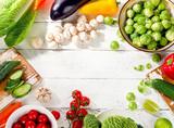 Raw organic vegetables  - 138306370