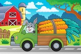 Truck with carrots theme image 2