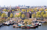 Amsterdam, Netherlands. Beautiful typical city architecture