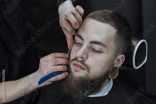 Bearded Man In Barbershop © karmaknight