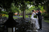 Bride and groom in Bali on their honeymoon