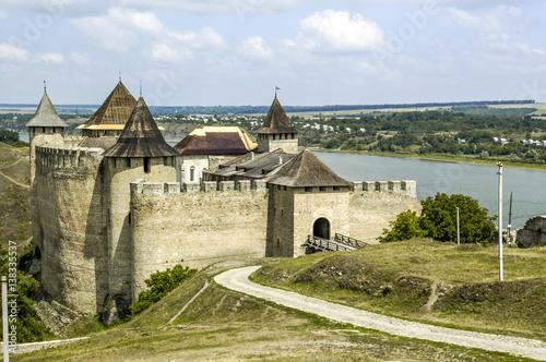Foto op Canvas Fantasie Landschap Chotyn, fortress, Ukraine, Western Ukraine