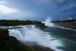 Long Exposure of American Horseshoe (Niagara) Falls After Storm - New York and Canada