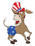 Illustration of a Cute American donkey