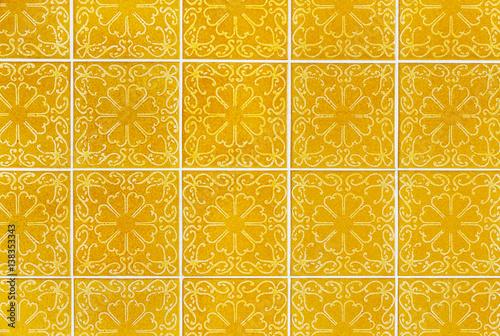 Plagát Retro Fliesen Gelb