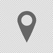 Map pointer vector icon eps 10. Mark symbol. Marker sign on transparent background.