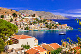 Amazing Greece - view of colorful Symi island, Dodecanesse